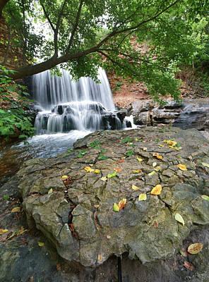 Arkansas Photograph - Waterfall Tanyard Creek Arkansas by Tim Fitzharris