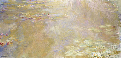 Waterlily Pond Art Print