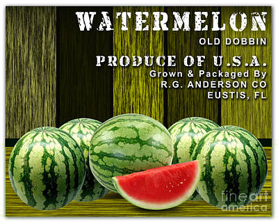 Watermelon Farm Art Print by Marvin Blaine