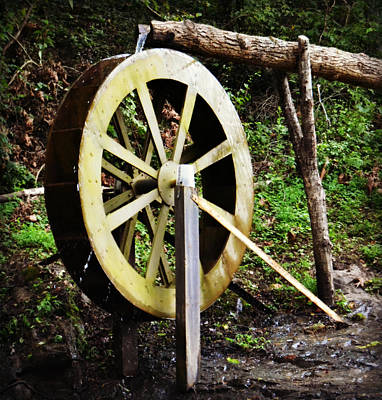 Photograph - Waterwheel In Colletsville North Carolina by Amber Summerow