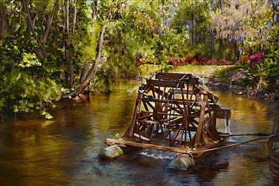 Steele Painting - Waterwheel by Noel Steele