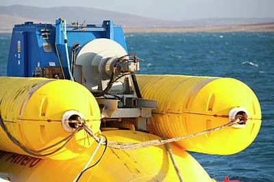 Waves Energy Photograph - Wave Energy Generator by Ashley Cooper