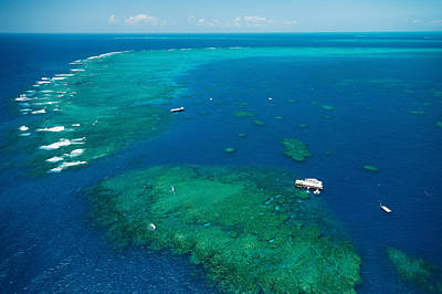 Waves Breaking On Great Barrier Reef Art Print by Panoramic Images