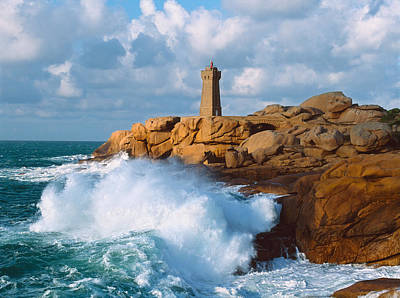 Perros Photograph - Waves Crashing At Ploumanach by Panoramic Images