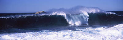 Splashing In The Tide Photograph - Waves In The Sea, Big Sur, California by Panoramic Images