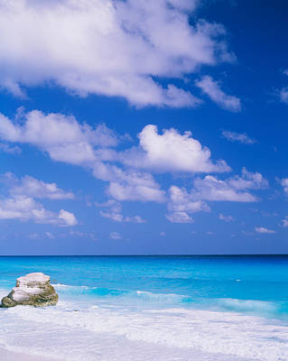 Cancun Photograph - Waves On The Beach, Cancun, Quintana by Panoramic Images