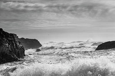 Splashing In The Tide Photograph - Waves Rolling On Shore  Tofino, British by Keith Levit
