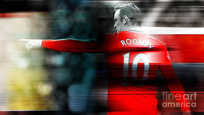 Wayne Rooney Print by Marvin Blaine