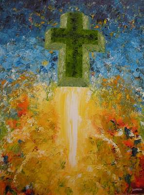 Unusual Religious Painting - We Have Liftoff by Ralph Loffredo