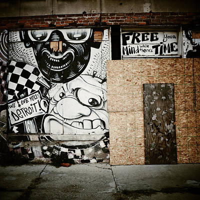 Urban Art Photograph - We Love You Detroit by Natasha Marco