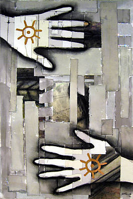 Mixed Media - we make walls and windows III by Janelle Schneider