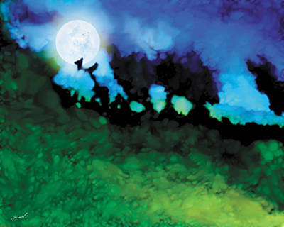 Painting - We Run To Catch The Moon by The Art of Marsha Charlebois