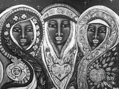 Cosmology Mixed Media - We Three Queens Of Orient Are by Maya Telford