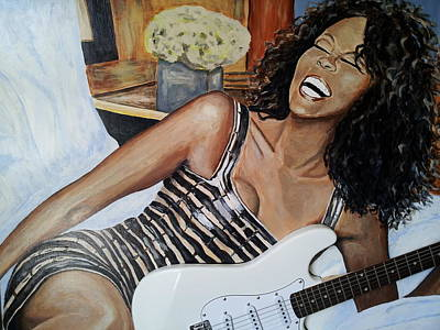 Guitar Painting - We Will Always Love You by Hubert Ebel