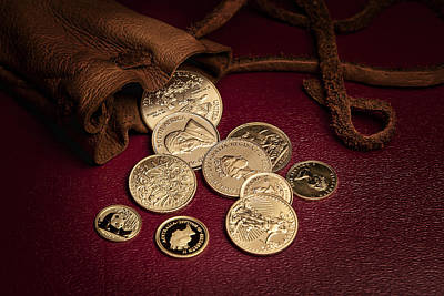 Coins Photograph - Wealth by Tom Mc Nemar