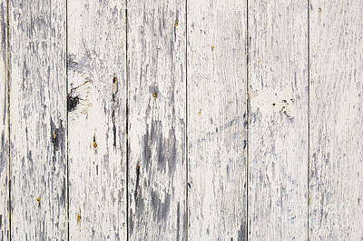 Weathered Paint On Wood Art Print