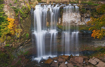 Photograph - Webster Falls Ontario Canada by Marek Poplawski