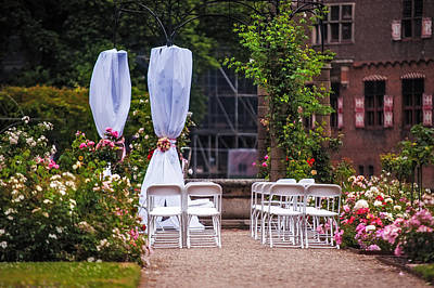 Photograph - Wedding Arrangement In De Haar Castle. Utrecht by Jenny Rainbow