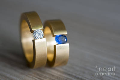 Solitaire Ring Photograph - Wedding Rings by Mats Silvan