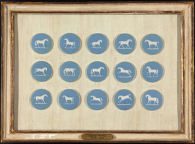 1 Wedgwood Horse Studies In Relief, After George Stubbs Art Print by Litz Collection