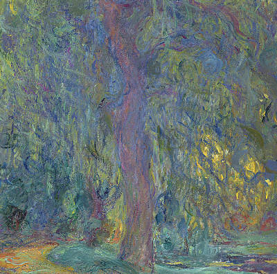 Willow Trees Painting - Weeping Willow by Claude Monet