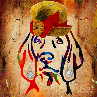 Dog Mixed Media - Weimaraner Collection by Marvin Blaine