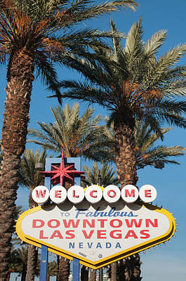 Welcome To Downtown Las Vegas Sign, Las Art Print