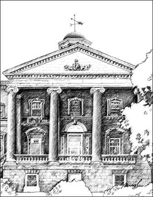 Drawing - Welland Courthouse by The Art of Marsha Charlebois