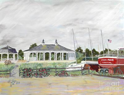 Pastel - Wells Harbor by Francois Lamothe