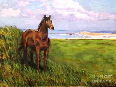 Welsh Breezes Art Print by Ellen Howell