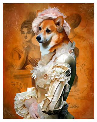 Painting - Welsh Corgi Pembroke - Pembroke Welsh Corgi Art Canvas Print by Sandra Sij