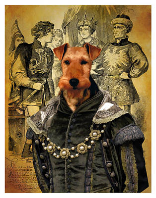 Painting - Welsh Terrier Art Canvas Print by Sandra Sij