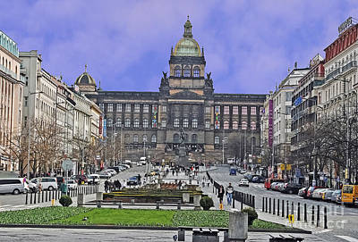 Photograph - Wenceslas Square by Elvis Vaughn