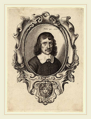 Self-portrait Drawing - Wenceslaus Hollar Bohemian, 1607-1677, Self-portrait by Litz Collection