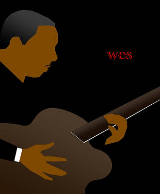 Digital Art - Wes Montgomery by Victor Bailey
