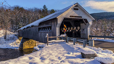 Blue Hues - West Dummerston Covered Bridge. by New England Photography