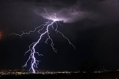 Photograph - West Jordan Lightning by Paul Marto