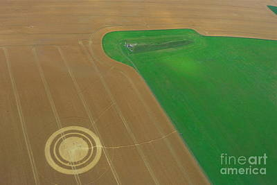 Photograph - West Kennet Long Barrow And Crop Circle by Denise Mazzocco