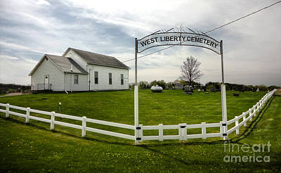 West Liberty Cemetery In Montezuma Iowa Art Print by Gregory Dyer