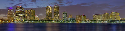 Photograph - West Palm Beach At Night by Debra and Dave Vanderlaan