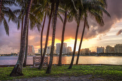 Photograph - West Palm Beach Skyline by Debra and Dave Vanderlaan