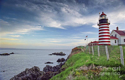 Photograph - West Quoddy Head Lighthouse by Alana Ranney