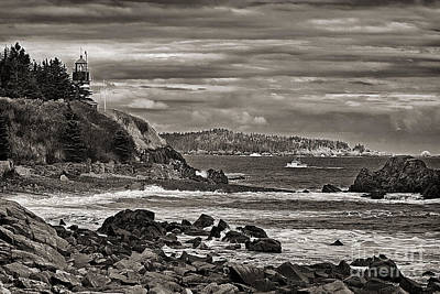 Quoddy Photograph - West Quoddy Head Lighthouse by Cindi Ressler