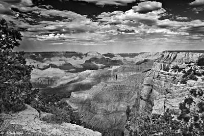 Grandview Digital Art - West Rim Grand Canyon National Park by Bob and Nadine Johnston
