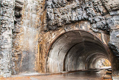 Photograph - West Tunnel On Going To The Sun Road by Brenda Jacobs