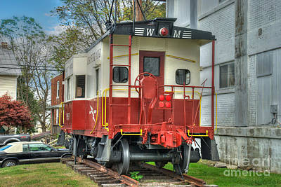 Photograph - Western Maryland Caboose  by Mark Dodd