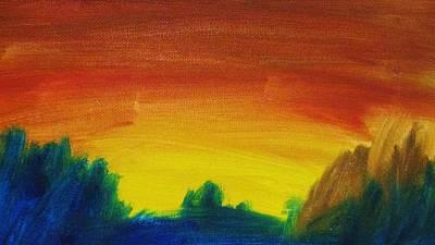 Painting - Western Sunset by Steve Jorde