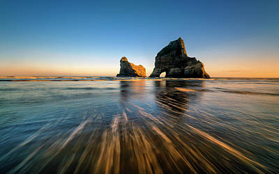 New Zealand Photograph - Wharaiki Beach by Hua Zhu