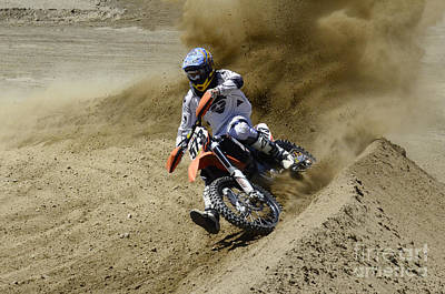 Photograph - Motocross What A Rush by Bob Christopher