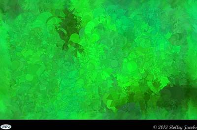 Digital Art - What Do You Want Green by Holley Jacobs